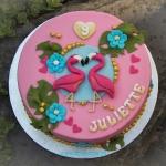bij-okidoki hilversum bussum naarden kindertaarten flamingotaart